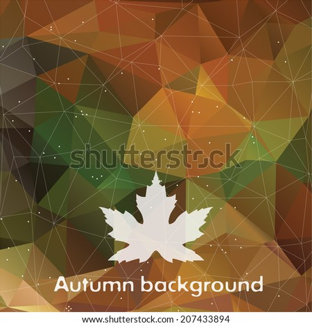 autumn triangle pattern in dark