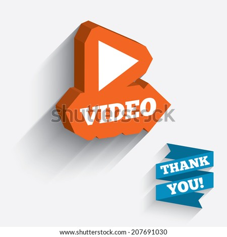 play video sign icon player