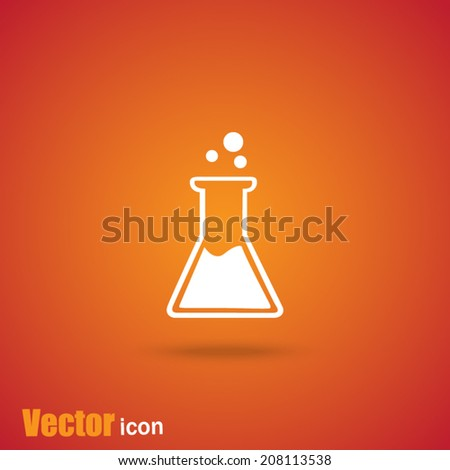 white vector icon on orange