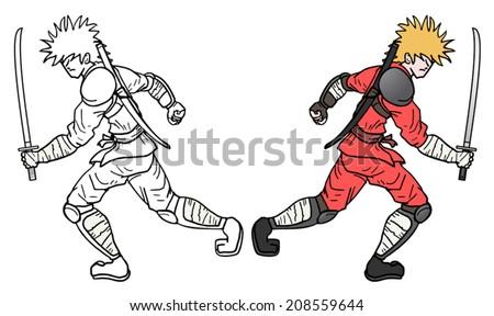ninja attack draw