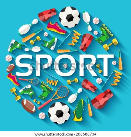 circular concept of sports
