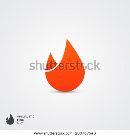 minimalistic fire logo  vector