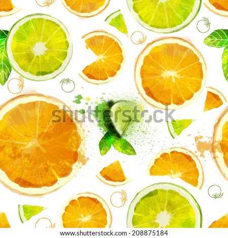 vector fruit seamless pattern