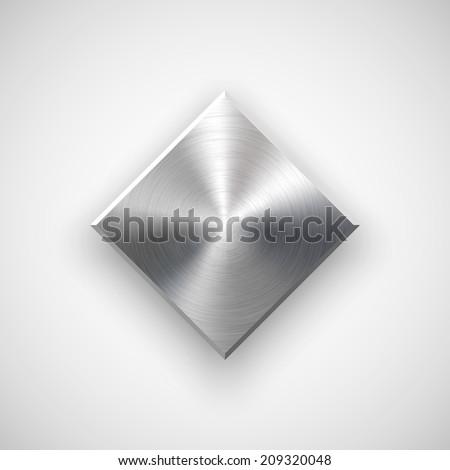 abstract rhombic badge  blank