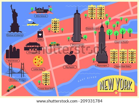 city map of new york city