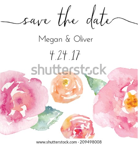 save the date calligraphy text