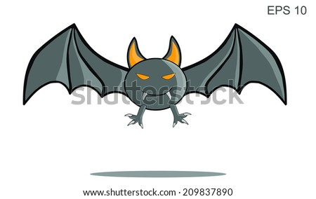 cartoon bat holloween vector