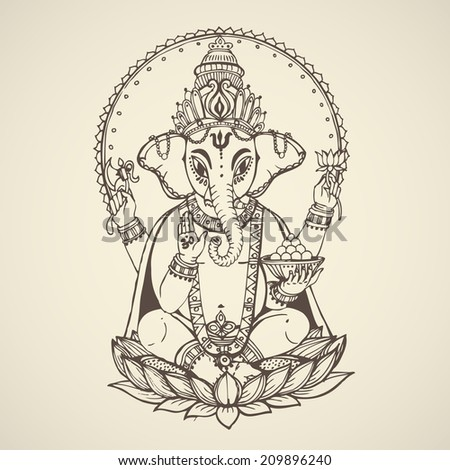 hindu god ganesha    the god of
