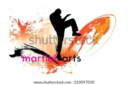karate kick vector illustration