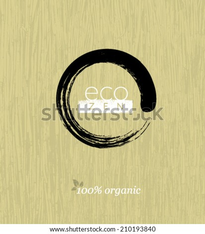 eco zen circle on organic