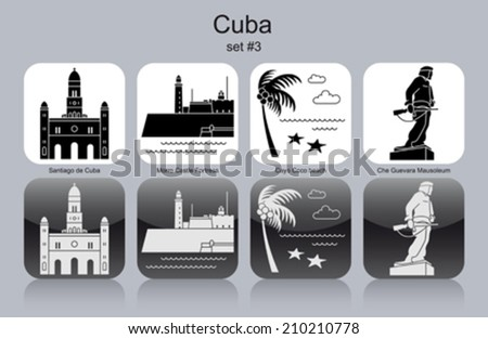 landmarks of cuba set of