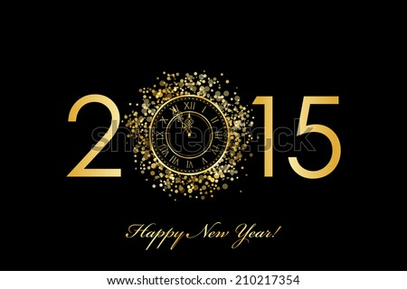 vector 2015 happy new year