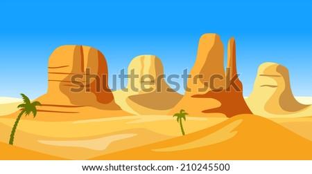 vector  landscape of wild west