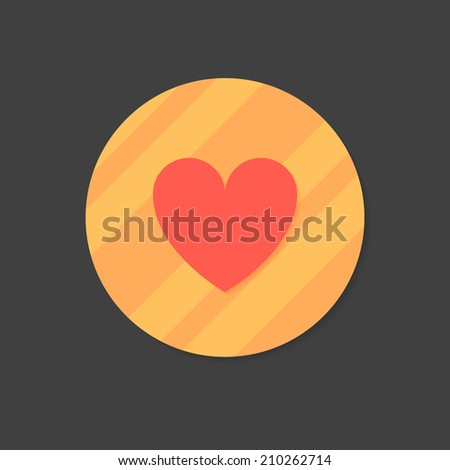 heart icon flat design  with