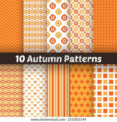 10 autumn vector seamless