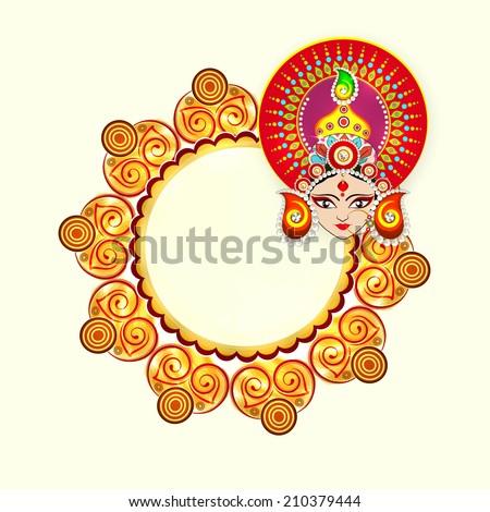 beautiful face of goddess durga