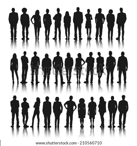 silhouette group of people
