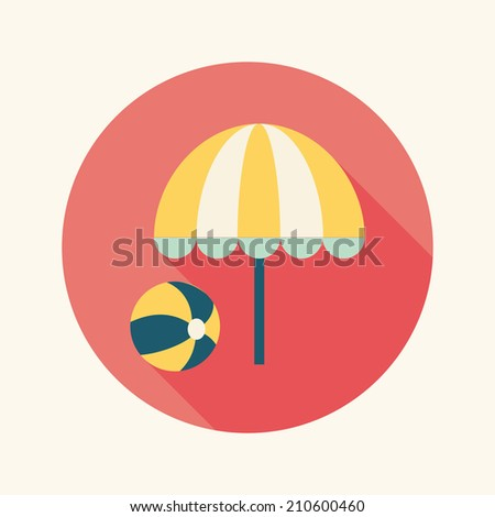 beach umbrella with ball flat