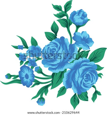 big blue flower bouquet