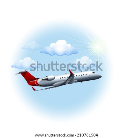 illustration of a plane