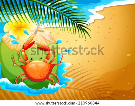 illustration of a beach with a
