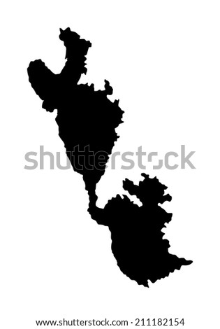 ithaki island in greece vector