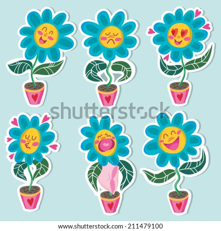 cute vector set of flowers