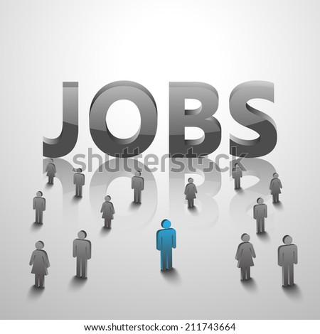 people looking for job vector