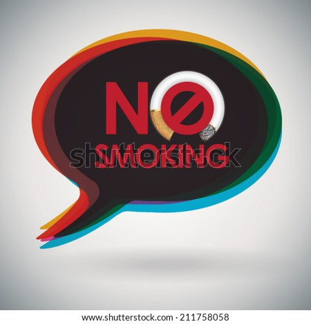 speech bubble   no smoking