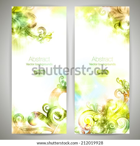 set of fantasy vector banners