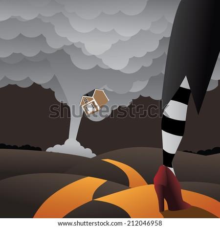 tornado illustration eps10