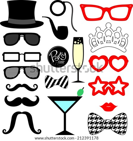 mustaches  lips  eyeglasses