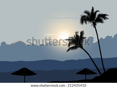 a tropical early morning
