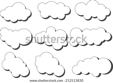 vector white clouds on white