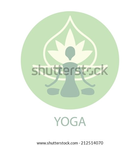 yoga silhouette on a lotus
