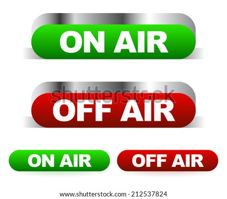 on air  off air sign