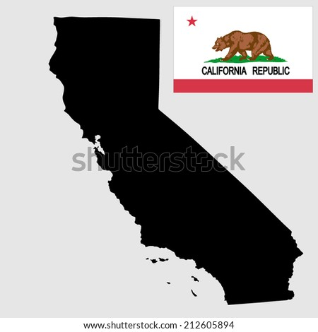 california vector map and