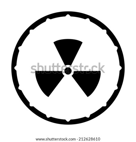radiation vector icon unusual