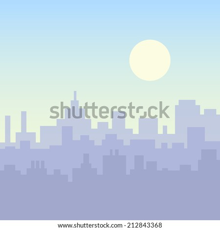 modern city building silhouette