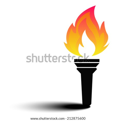 torch flame fire vector