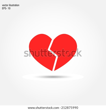 broken heart icon vector unusual