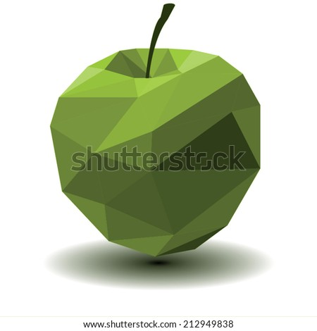 triangle apple vector