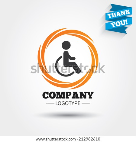 disabled sign icon human on