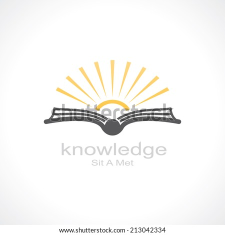 knowledge symbol open book and