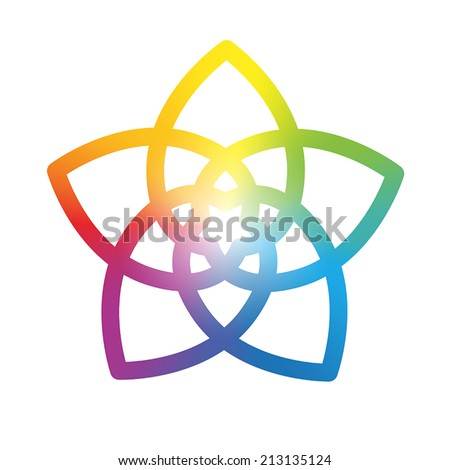 rainbow gradient colored flower