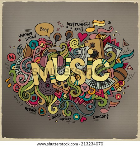music hand lettering and