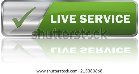 modern green live service sign