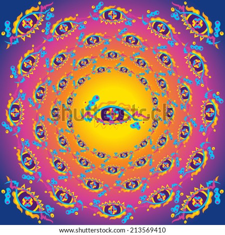 psychedelic eyes concentric