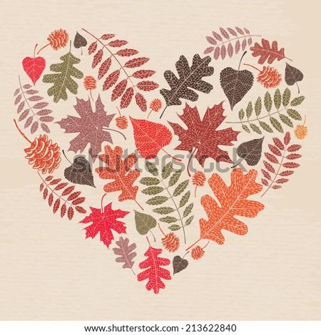 autumn leaves card fall autumn