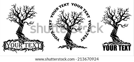 stylized tree with options for
